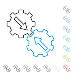 Gear integration line icon vector