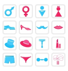 Gender icons set vector