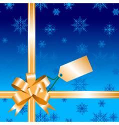 gift bow ribbon vector image vector image