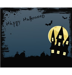 Happy halloween background with house vector