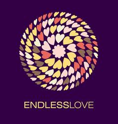 Heart logo poster vector