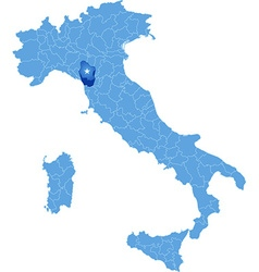 Map of italy lucca vector