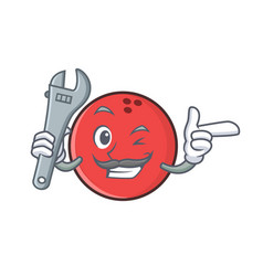 Mechanic bowling ball character cartoon vector