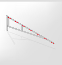 mechanical barrier isometric vector image vector image