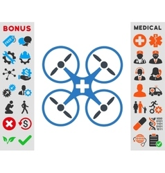 Medical drone icon vector