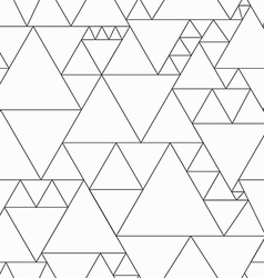 monochrome triangle seamless pattern vector image vector image
