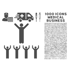 Religion icon with 1000 medical business vector