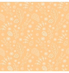 Seamless pattern with cute rabbits Easter vector image vector image
