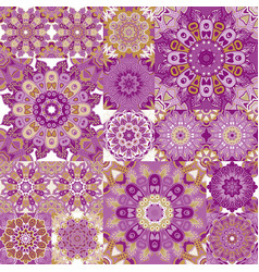 Seamless tile pattern colorful lisbon vector