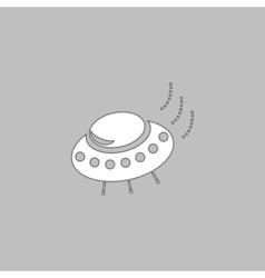 UFO computer symbol vector image