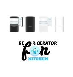 Modern refrigerator isolated on white background vector image