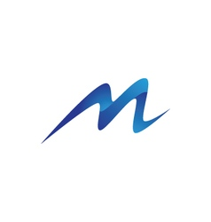M Letter Mountain Logo vector image