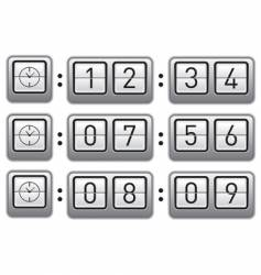 Digital flipclock display vector