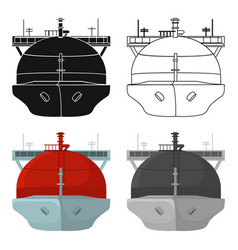 Oil tanker icon in cartoon style isolated on white vector