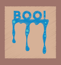 Flat shading style icon halloween boo vector