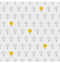 Seamless light bulbs beige pattern vector image