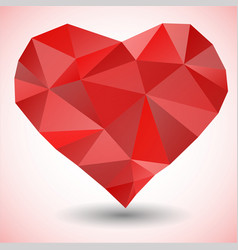 Triangle heart icon vector