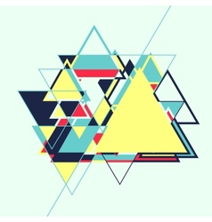 Abstract geometric retro colourful background vector