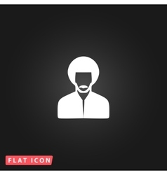 Rastafarian man flat icon vector