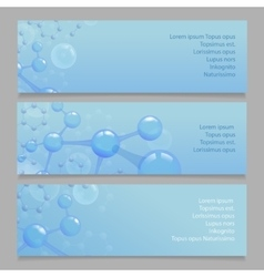 Molecular structure l banners with atom and vector