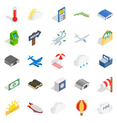 air force icons set isometric style vector image