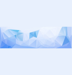 blue low polygonal texture header template vector image