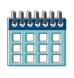 Calendar planner template for week starts vector
