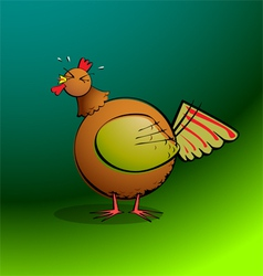 chickensRround Rooster Crowing vector image vector image