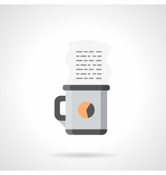 Coffee for manager flat color icon vector image vector image