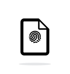 Fingerprint on file icon on white background vector