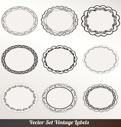 Frame labels Set ornamental vintage vector image