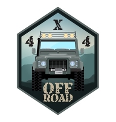Khaki offroad car truck 4x4 vector