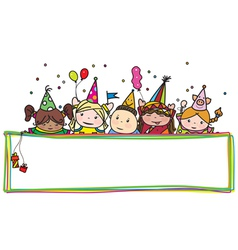 Kids birthday frame vector