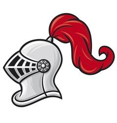 Medieval knight helmet vector