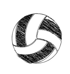 monochrome hand drawn sketch of volleyball ball vector image vector image