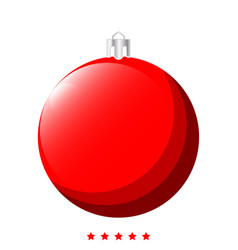 New years sphere christmas ball icon vector