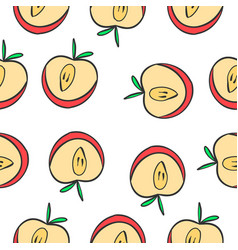 pattern of apple fruit collection vector image