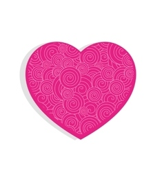 Pink cute textured heart vector image