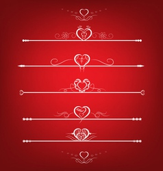 Set Valentines Day Design Elements vector image