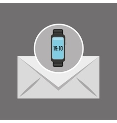Smart watch news receiver icon vector