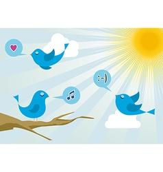 Social media twitter birds vector