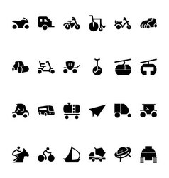 Transport hand drawn doodle icons 4 vector