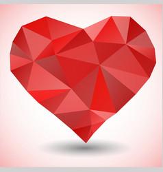 Triangle heart icon vector