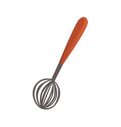 whisk or beater kitchen utensil cartoon vector image vector image