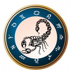 zodiac wheel with sign scorpio vector image