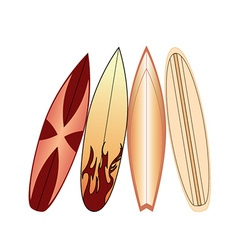 Abstract surf boards vector