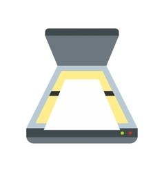 Scanner icon flat style vector