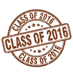 Class of 2016 stamp vector
