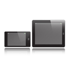Horizontal tablet and mobile vector