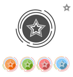 Star flat icon free vector
